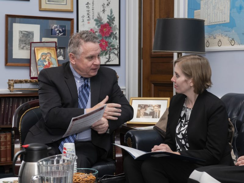 Congressman Chris Smith & Carin Berkowitz, PhD